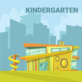 Kindergarten Cartoon Background Royalty Free Stock Image