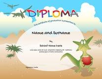 Kindergarten certificate template for preschool graduation Stock Images