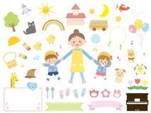 Kindergarten children vector illustration