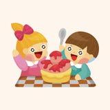 Kindergarten children theme elements. Vector illustration file Royalty Free Stock Photography