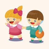 Kindergarten children theme elements. Vector illustration file Stock Images