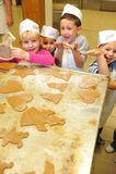 Kindergarten christmas cookies Royalty Free Stock Images