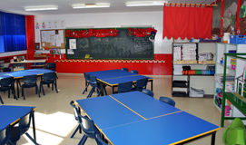 Kindergarten classroom. Without kids, in Las Palmas de Gran Canaria, Spain Royalty Free Stock Images