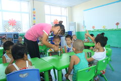Kindergarten Classroom Stock Photos
