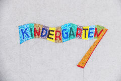Kindergarten colorful plate Royalty Free Stock Photo