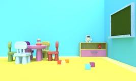 Kindergarten. 3d rendering royalty free stock photo