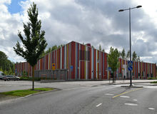 Kindergarten in Espoo, Finland. A modern building in a suburban in Espoo, Finland. There is a kindergarten working in this building royalty free stock photography