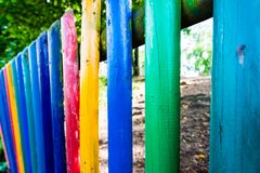 Kindergarten fence Royalty Free Stock Photos