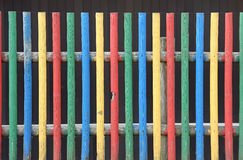Kindergarten fence in vivid colors Royalty Free Stock Image