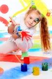 Kindergarten girl royalty free stock image