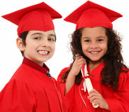 Kindergarten Graduation Boy and Girl Child i stock images