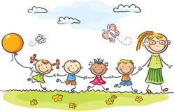 Kindergarten vector illustration