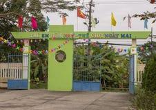 Kindergarten Hoa Chau, Dorf von Phuong Nam bewirtschaftend, Vietnam stockfotografie