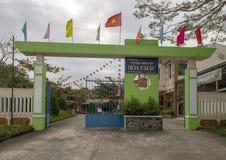 Kindergarten Hoa Chau, Dorf von Phuong Nam bewirtschaftend, Vietnam stockbild