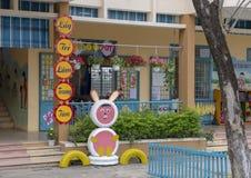 Kindergarten Hoa Chau, Dorf von Phuong Nam bewirtschaftend, Vietnam lizenzfreie stockbilder