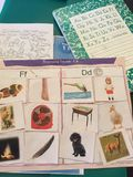 Kindergarten Homework 2015 Royalty Free Stock Photos