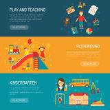 Kindergarten Horizonta Banners Stock Image