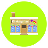 Kindergarten icon in trendy flat style isolated on grey background. Building symbol for your design, logo, UI. Vector illustration Stock Image