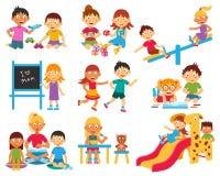 Kindergarten icons set Royalty Free Stock Photos