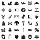Kindergarten icons set, simple style. Kindergarten icons set. Simple set of 36 kindergarten vector icons for web isolated on white background Royalty Free Stock Photo
