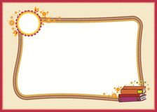 Kindergarten, kid diploma with beautiful background Royalty Free Stock Image