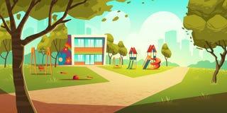 Free Kindergarten Kids Playground, Empty Children Area Stock Images - 161793944