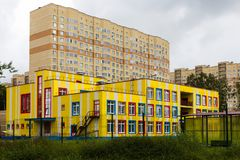 Kindergarten in new residential district Stock Photography