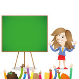 Kindergarten nursery school teacher kids Royalty Free Stock Images
