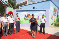Kindergarten opening ceremony Royalty Free Stock Photography