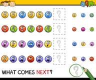 Kindergarten pattern task Stock Image