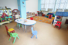 Kindergarten Preschool Classroom Interior. The image of a Kindergarten Preschool Classroom Interior royalty free stock photo