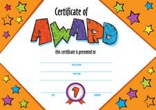 kindergarten Preschool kids Diploma design template