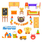 Kindergarten Preschool Set. Vector Illustration Royalty Free Stock Photo