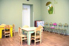 Kindergarten room interior Royalty Free Stock Image