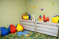 Kindergarten room interior Royalty Free Stock Photography