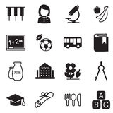 Kindergarten school education icons Vector Illustration Symbol 2 Royalty Free Stock Photography
