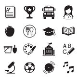 Kindergarten school education icons Vector Illustration Symbol Royalty Free Stock Image