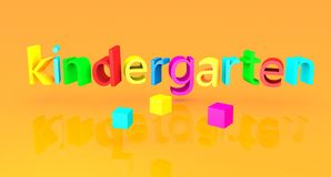 Kindergarten school text concept Stock Photos