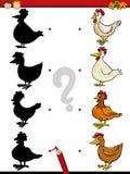 Kindergarten shadows task royalty free illustration