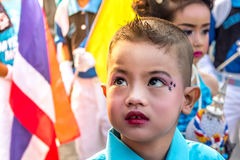 Kindergarten students Have marched in parades, sports royalty free stock images