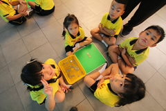 Kindergarten students are learning Stock Image