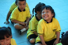 Kindergarten students smiling Royalty Free Stock Images