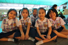 Kindergarten students smiling Stock Photos