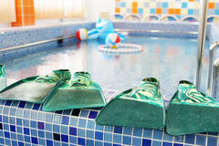In a kindergarten swimming pool Royalty Free Stock Images
