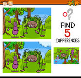 Kindergarten task of differences Stock Images
