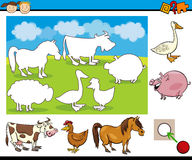 Kindergarten task for preschoolers Royalty Free Stock Image