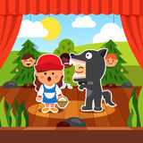Kindergarten theatre play stock illustration