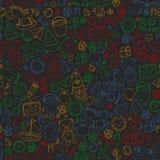 Kindergarten Vector seamless pattern with toys and items for education. Kindergarten Vector seamless pattern with toys and items for education vector illustration