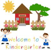 Kindergarten Welcoming to School Illustration Royalty Free Stock Images