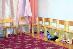 Kindergarten wood chairs Royalty Free Stock Image